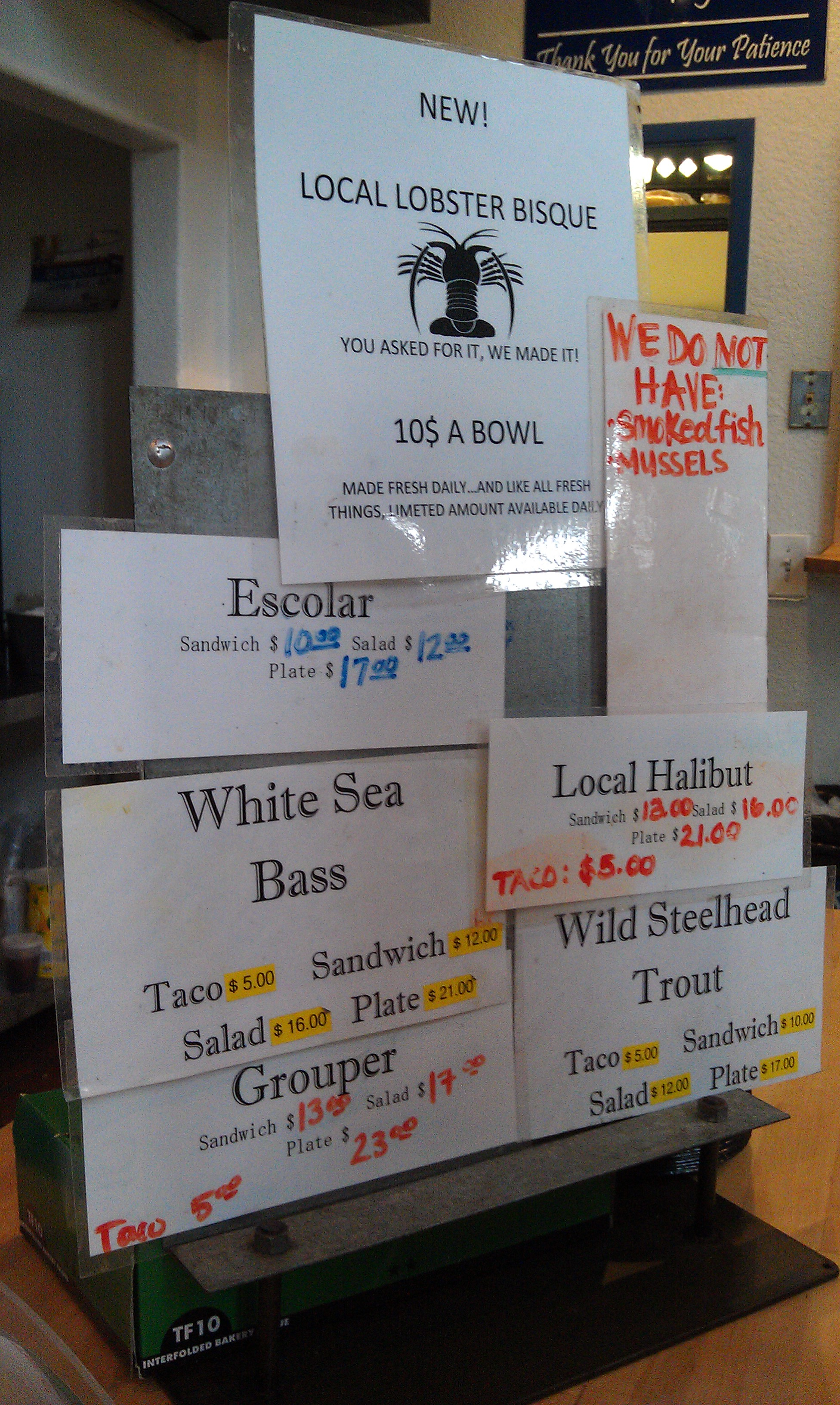 Seafood Dives Near Me